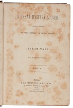 Vase, A Great Mystery Solved: Being A Sequel to the Mystery of Edwin Drood, 1878, first edition