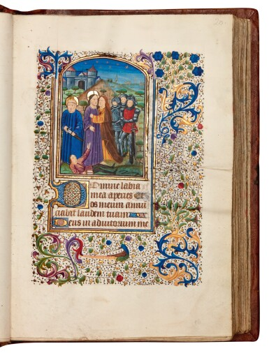 View 4. Thumbnail of Lot 7. Book of hours, Use of Rome, in Latin and Picard French, illuminated manuscript on vellum, mid-15th century.