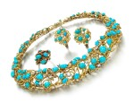 TURQUOISE AND DIAMOND PARURE