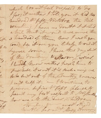 View 1. Thumbnail of Lot 4. ANNING, MARY | autograph letter signed, to William Buckland, [1829].