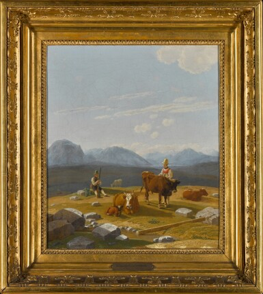View 2. Thumbnail of Lot 39. Auf der Alm (On the Alpine Pasture).