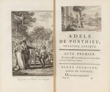 View 3. Thumbnail of Lot 92. Réunion de 2 ouvrages en 7 volumes reliés aux armes de la comtesse de Provence.