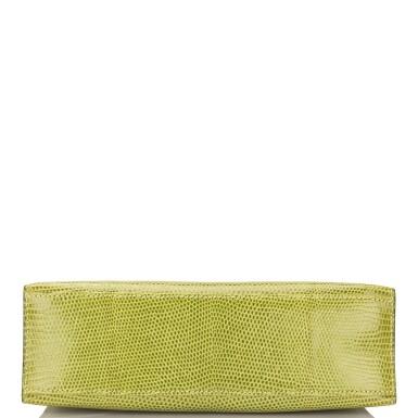 View 5. Thumbnail of Lot 17. Hermès Vert Anis Lizard Mini Kelly Pochette.