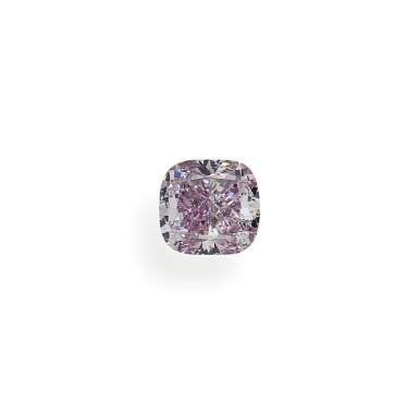 A 1.01 Carat Fancy Pink-Purple Cushion-Cut Diamond, SI1 Clarity