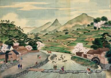 View 7. Thumbnail of Lot 116. ATTRIBUTED TO KAWAHARA KEIGA (1786–1860) STUDIO, A GROUP OF ELEVEN VIEWS STUDIO, EDO PERIOD, EARLY 19TH CENTURY  .