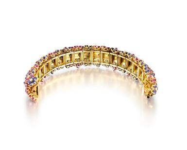 View 3. Thumbnail of Lot 1659. 'Hawaii' Ruby, Sapphire and Diamond Bracelet | 梵克雅寶 | 'Hawaii' 紅寶石 配 藍寶石 及 鑽石 手鐲.