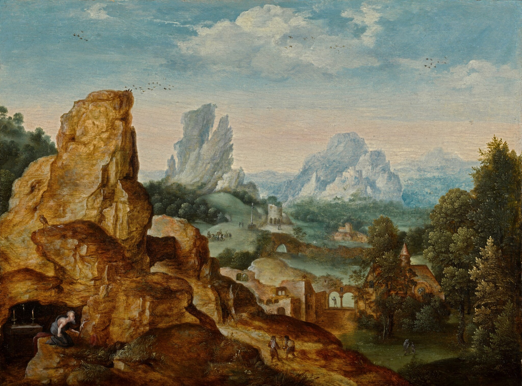 View full screen - View 1 of Lot 6. Landscape with Saint Jerome | 《聖杰羅姆與風景》.