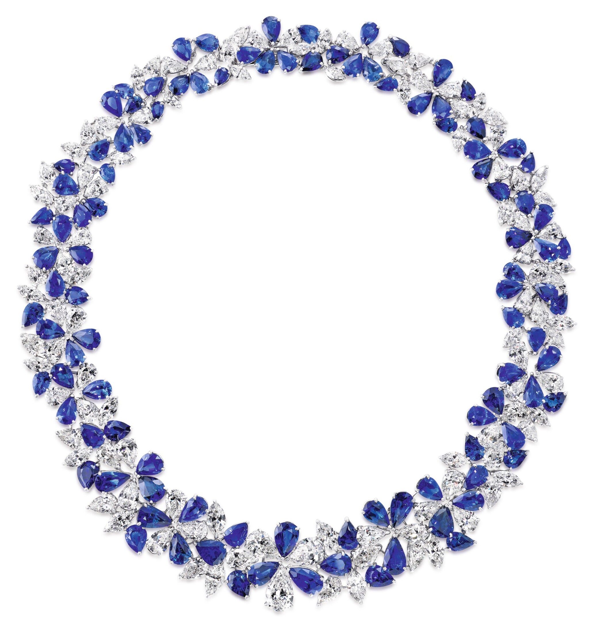 View full screen - View 1 of Lot 46. GRAFF | SAPPHIRE AND DIAMOND NECKLACE 格拉夫 | 藍寶石配鑽石項鏈.