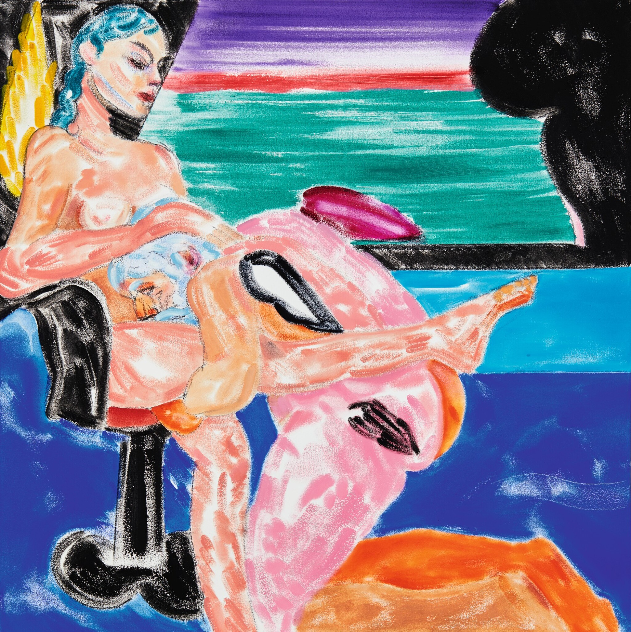 View full screen - View 1 of Lot 22. R. B. KITAJ | LOS ANGELES NO. 27 (GO DOWN).