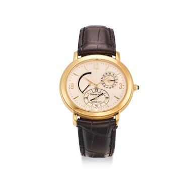 View 1. Thumbnail of Lot 111. AUDEMARS PIGUET | MILLENARY A YELLOW GOLD DUAL TIME ZONE WRISTWATCH WITH DATE AND POWER RESERVE INDICATION, CIRCA 2000.