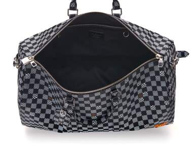 View 6. Thumbnail of Lot 337. Black Distorted Damier Keepall Bandouliere 50cm in Coated Canvas and Cowhide Leather with Palladium Tone Hardware, 2020.