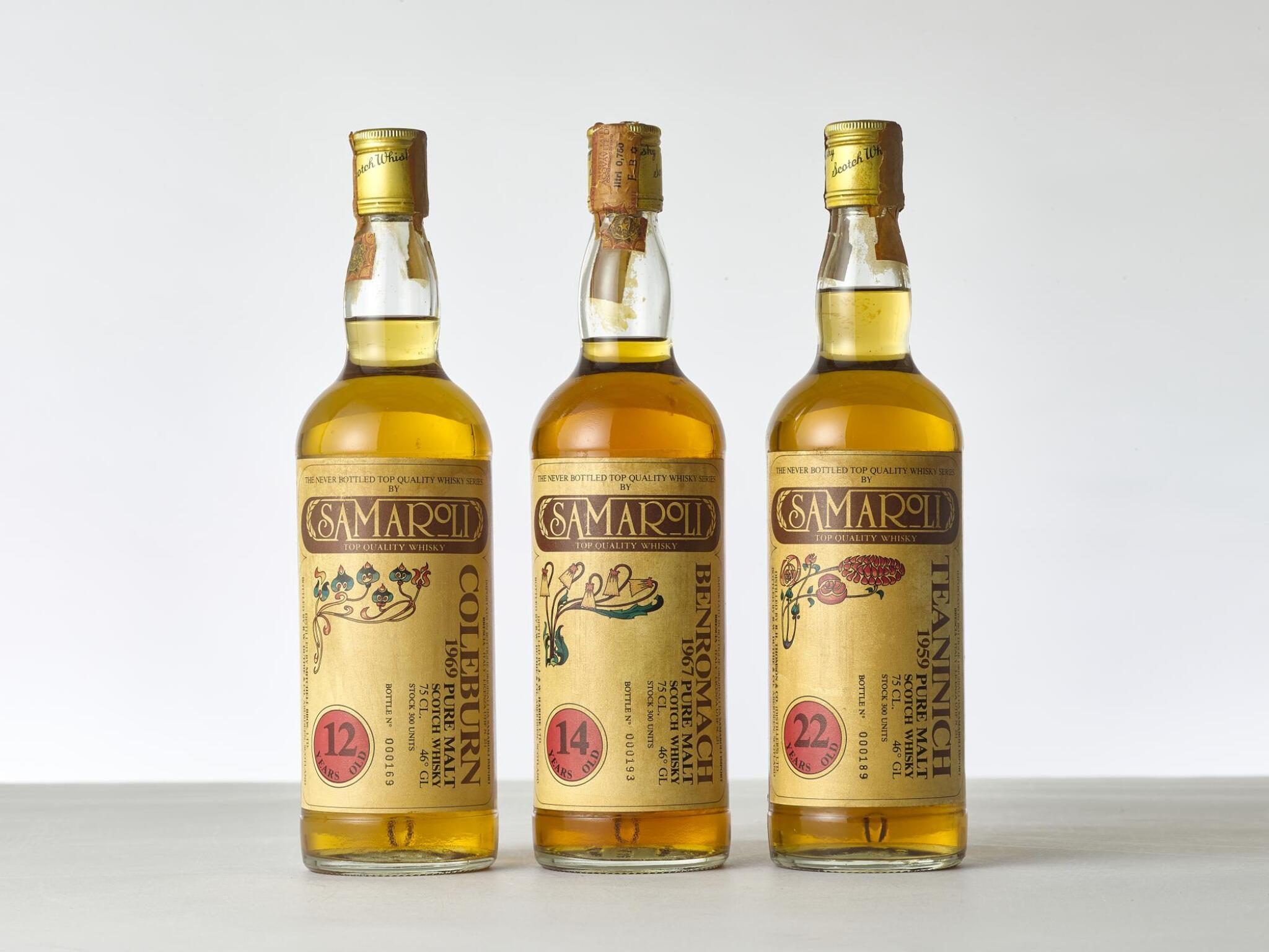 View full screen - View 1 of Lot 2047. Benromach Samaroli Flowers 14 Year Old 46.0 abv 1967 (1 BT).