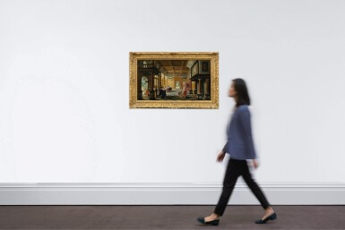 View 4. Thumbnail of Lot 25. Interior of a Palace with Ladies and Gentlemen.