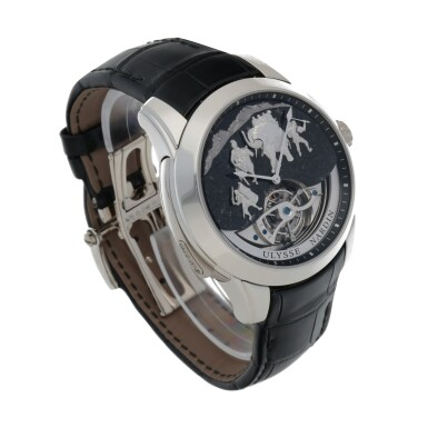 View 3. Thumbnail of Lot 426. HANNIBAL, REF 789-00 LIMITED EDITION PLATINUM WESTMINSTER MINUTE REPEATING TOURBILLON WRISTWATCH WITH JAQUEMARTS, GRANITE DIAL AND MATCHING CUFFLINKS CIRCA 2015.