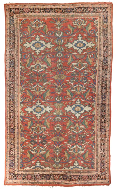 View 1. Thumbnail of Lot 10. A 'Ziegler' Mahal carpet, Northwest Persia, late 19th/early 20th century.