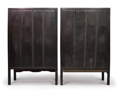 View 4. Thumbnail of Lot 1043. A PAIR OF CARVED 'HONGMU' SQUARE-CORNER CABINETS, LATE 19TH / EARLY 20TH CENTURY.