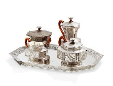 View 1. Thumbnail of Lot 126. A SILVER TEA AND COFFEE SET, GIFT FROM EMPRESS OF RUSSIA, WEISSHAUPT, MUNICH, 1839   CADEAU DE L'IMPERATRICE ALEXANDRA FEODOROVNA DE RUSSIE SERVICE À THÉ ET CAFÉ EN ARGENT, PAR WEISSHAUPT, MUNICH, 1839.