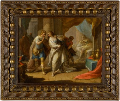 View 4. Thumbnail of Lot 44. ANDREA CELESTI  |  AMNON'S OUTRAGE ON BEHALF OF HIS SISTER, TAMAR;  ABSALOM ORDERS THE MURDER OF AMNON.