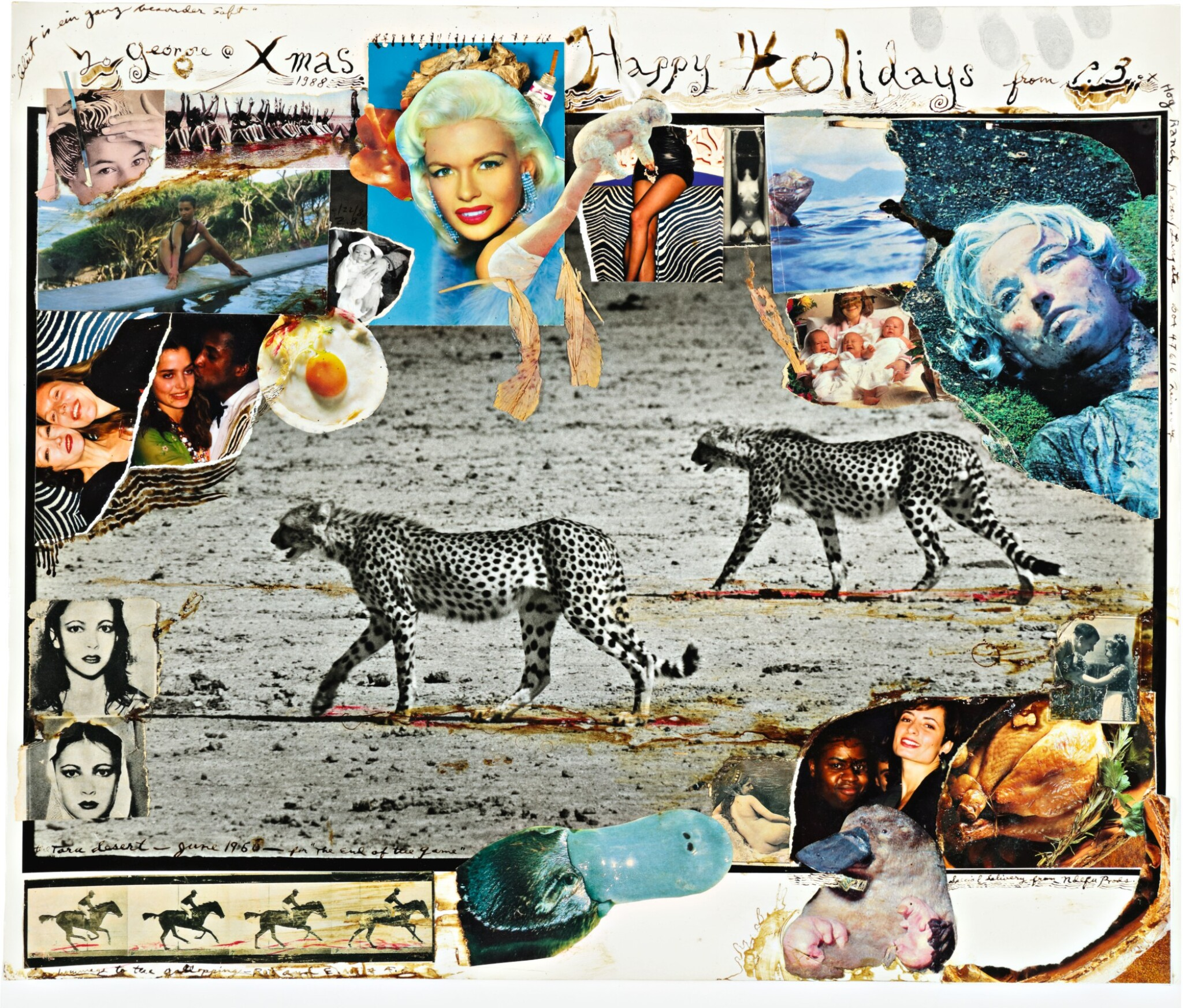 View full screen - View 1 of Lot 7. PETER BEARD | HUNTING CHEETAHS, TARU DESERT, KENYA, JUNE 1960.
