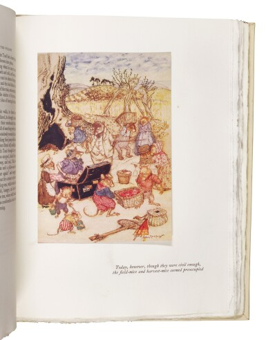 """View 3. Thumbnail of Lot 272. Rackham--Grahame, The Wind in the Willows, 1951, publisher's """"one hundredth edition""""."""