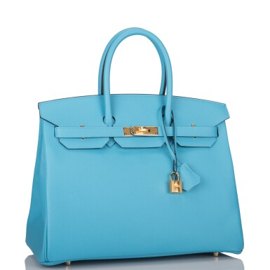 View 2. Thumbnail of Lot 15. Hermès Bleu du Nord Birkin 35cm of Epsom Leather with Gold Hardware.