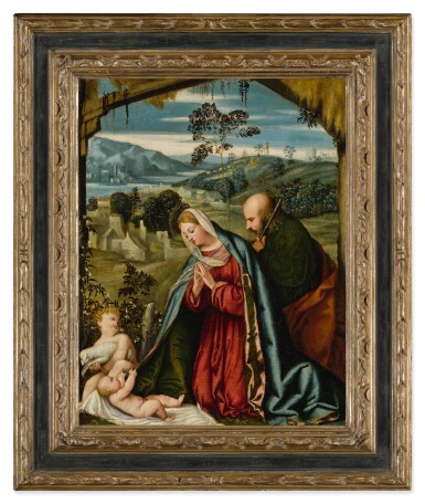 View 2. Thumbnail of Lot 513. The Holy Family in a landscape.