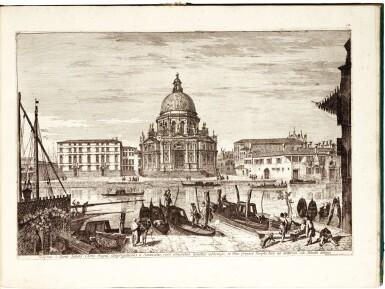 View 2. Thumbnail of Lot 217. Marieschi, Magnificentiores selectioresque urbis Venetiarum prospectus, Venice, [after 1743], green boards.