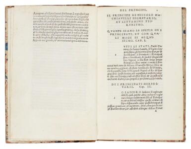 View 2. Thumbnail of Lot 169. Machiavelli, Il Principe, Florence, 1532, later Danish half calf.