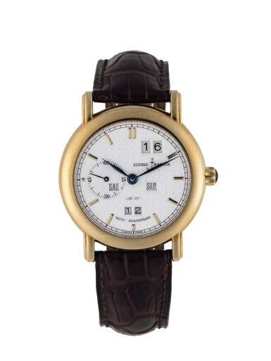 ULYSSE NARDIN | PERPETUAL LUDWIG, REF 331-22 LIMITED EDITION YELLOW GOLD PERPETUAL CALENDAR WRISTWATCH WITH YEAR INDICATION CIRCA 1997