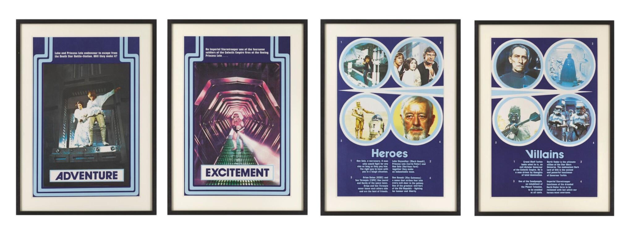 STAR WARS, SPECIAL ODEON CINEMA RELEASE POSTER, BRITISH, MARLER HALEY, 1977