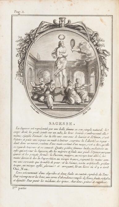View 3. Thumbnail of Lot 85. Sagesse de Louis XVI. 1775. 2 vol. Rel. aux armes des comtesses de Provence et d'Artois..