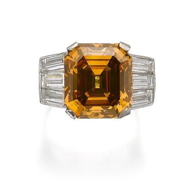 FANCY DEEP BROWN-ORANGE DIAMOND RING
