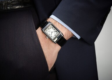 View 4. Thumbnail of Lot 20. JAEGER LECOULTRE | REVERSO, REFERENCE 240.8.15, STAINLESS STEEL REVERSIBLE RECTANGULAR WRISTWATCH WITH 8-DAY POWER-RESERVE INDICATION AND DATE, CIRCA 2003.