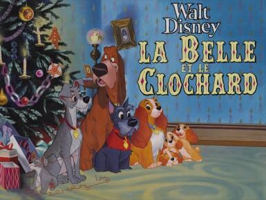 Lady and the Tramp / La Belle et le Clochard (1955) original artwork, French