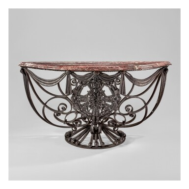 View 1. Thumbnail of Lot 50. Pair of Console Tables.