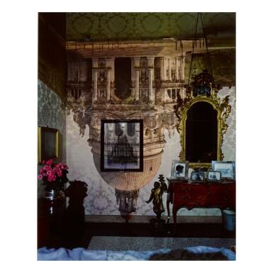 ABELARDO MORELL   CAMERA OBSCURA: SANTA MARIA DELLA SALUTE INSIDE PALAZZO BEDROOM, VENICE, ITALY