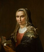 JACOB LOIS | Portrait of a woman, half-length, holding a book