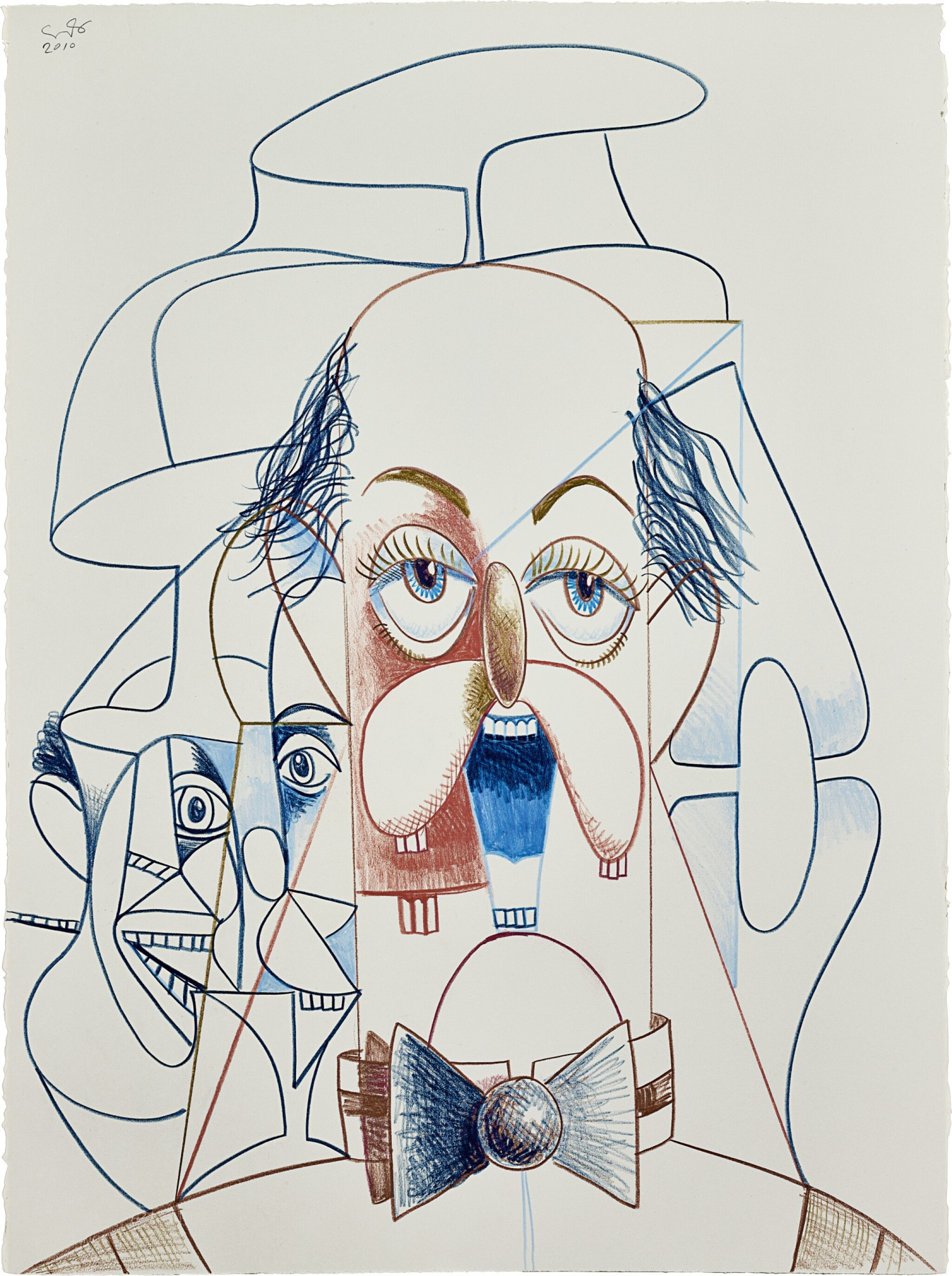 View full screen - View 1 of Lot 518. George Condo 喬治・康多   Untitled (Banker)  無題(銀行家).