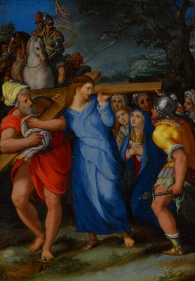 View 1. Thumbnail of Lot 12. Christ Carrying the Cross.