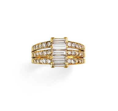 View 1. Thumbnail of Lot 80. Van Cleef & Arpels, Diamond ring [Bague diamants].