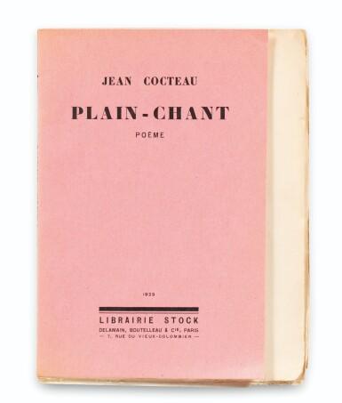 View 2. Thumbnail of Lot 225. COCTEAU. Plain-chant. 1923. Broché. 1/25 premiers exemplaires sur Hollande. Envoi a.s..