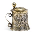 A miniature silver-gilt tankard, unmarked, probably Hungarian, circa 1621