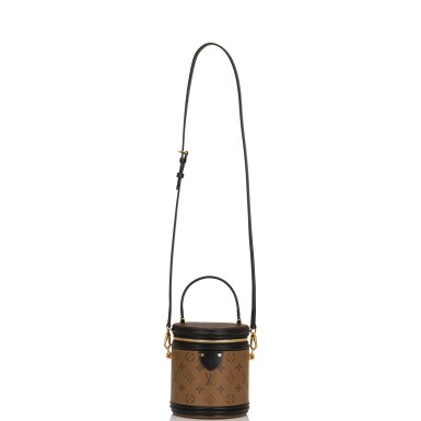 View 5. Thumbnail of Lot 87. Louis Vuitton Cannes Bag of Reverse Monogram Canvas with Golden Brass Hardware.