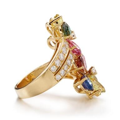 View 2. Thumbnail of Lot 1645.  BULGARI | GEM SET AND DIAMOND RING | 寶格麗 | 寶石 配 鑽石 戒指.