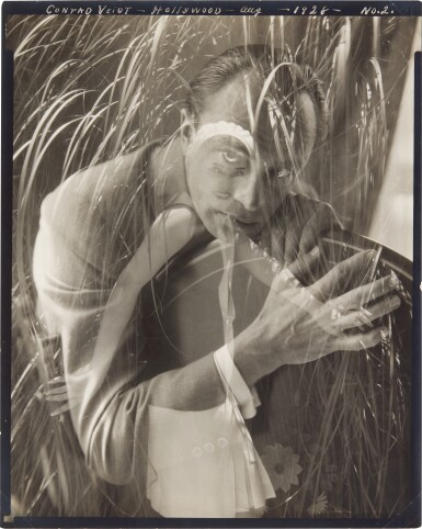 View 1. Thumbnail of Lot 90. EDWARD STEICHEN | 'CONRAD VEIDT', HOLLYWOOD, NO. 2 (DOUBLE EXPOSURE WITH LUPE VÉLEZ), 1928.