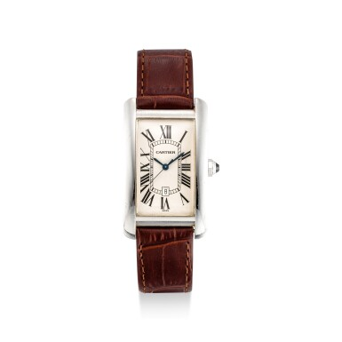 View 1. Thumbnail of Lot 610. CARTIER | TANK AMÉRICAINE, REFERENCE 1741 A WHITE GOLD WRISTWATCH, CIRCA 1990.