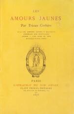 Les Amours jaunes. 1873. In-12. Ex. sur papier jonquille en reliure signée de l'époque