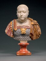 ATTRIBUTED TO FRANCIS HARWOOD (1726/7-1783), ITALIAN, ROME, 18TH CENTURY | BUST OF VITELLIUS