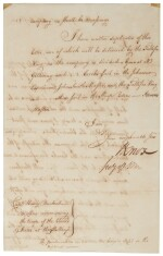 Knox, Henry. Letter signed, 16 August 1790, to Henry Burbeck
