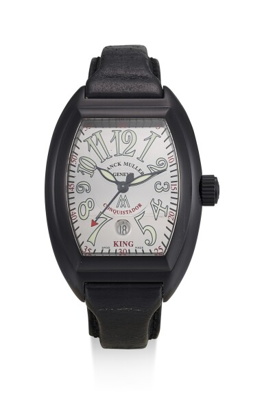 FRANCK MULLER | CONQUISTADOR, REFERENCE 8005 SC KING, A LIMITED EDITION PVD-COATED STAINLESS STEEL WRISTWATCH WITH DATE, MADE FOR THE MARCUS BOUTIQUE ON BOND STREET, CIRCA 2005